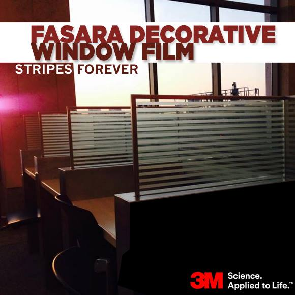 Fasara Decorative Window Film: Stripes Forever